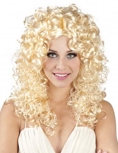 Paryk blonde krøller kvinde