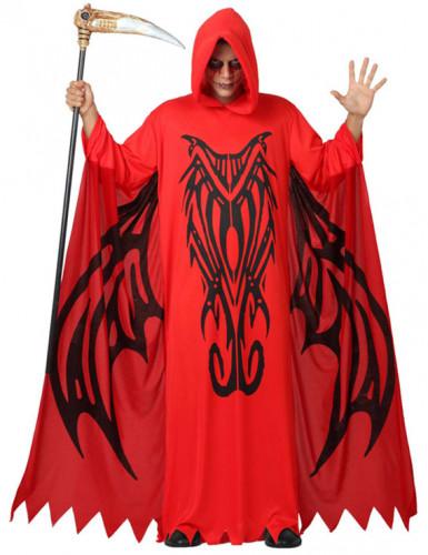 Udklædning rød dæmon voksen halloween