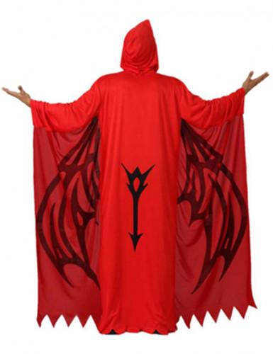 Udklædning rød dæmon voksen halloween-1