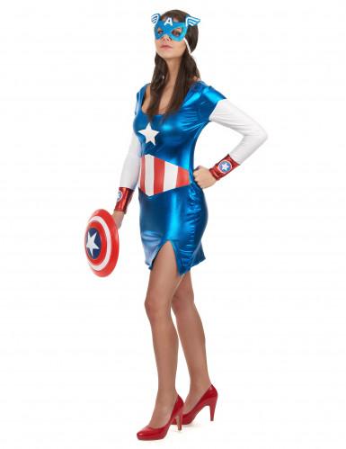 Udklædning sød superhelt Captain Girl kvinde-1
