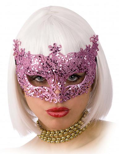 Venetiansk maske lyserød