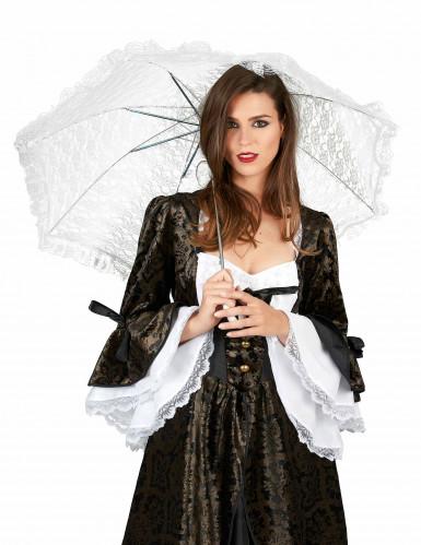 Hvid paraply-1