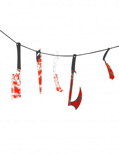 Guirlande blodigt værktøj Halloween