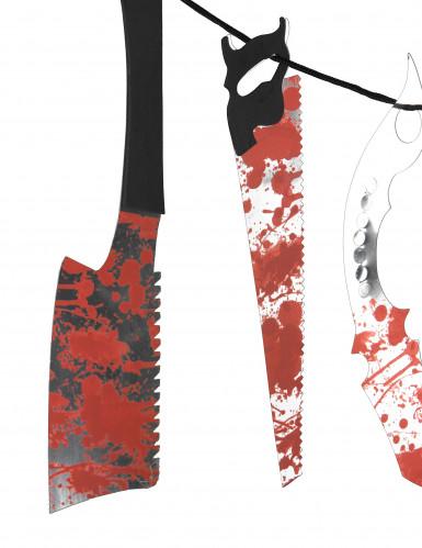 Guirlande blodigt værktøj Halloween-1