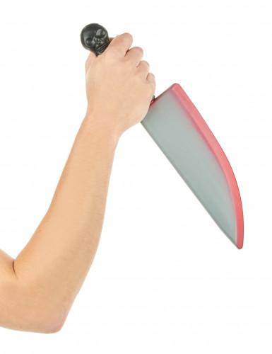 Plastic-kniv med blodstænk-1