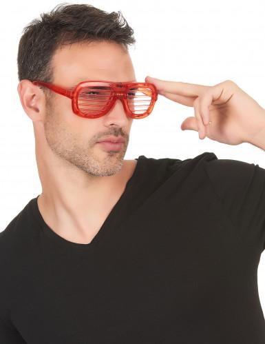 Røde briller med LED-lys-1