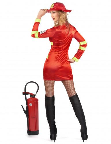 Sexet rødt brandmandskostume til kvinder-2