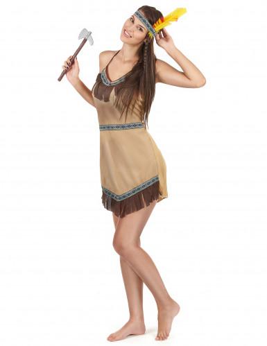Indianerkvinde Kostume-1