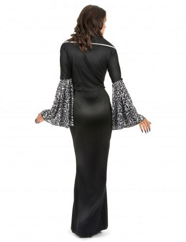 Sort vampyrkjole med mønster til kvinder-2