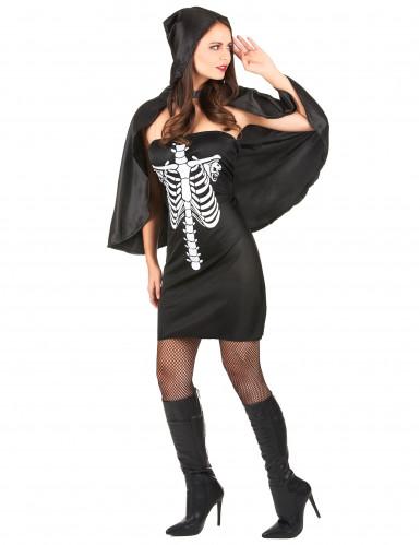 Halloween skeletudklædning til kvinder -1