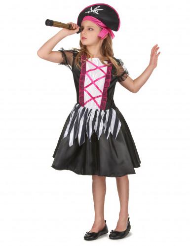 Miss Pink - Piratkjole til piger -1