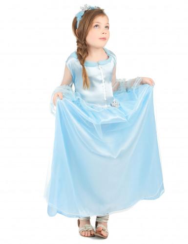 Lyseblå prinsessekjole til piger