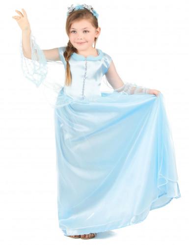 Lyseblå prinsessekjole til piger -1