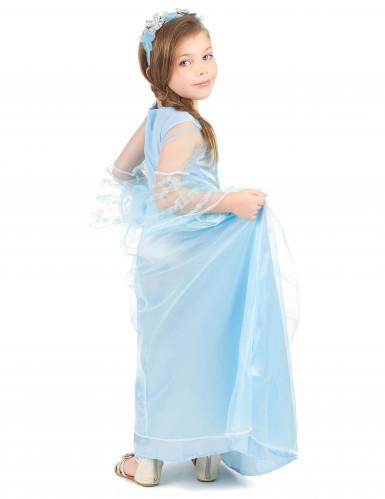 Lyseblå prinsessekjole til piger -2