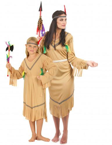 Par kostume indianere mor og datter