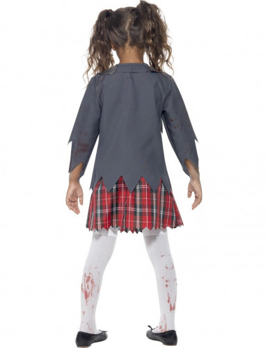 Halloween zombie-skolepige kostume til piger-2