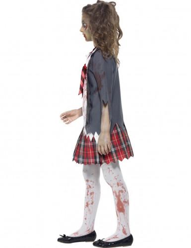 Halloween zombie-skolepige kostume til piger-1