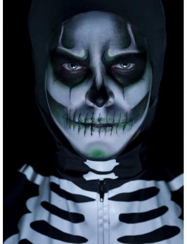 Selvlysende skeletsminkesæt Halloween voksen-1