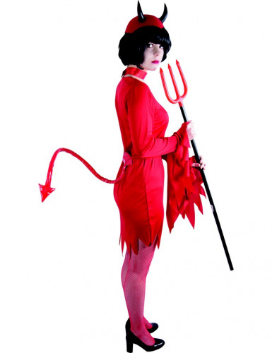 Rød djævlehale Halloween voksen