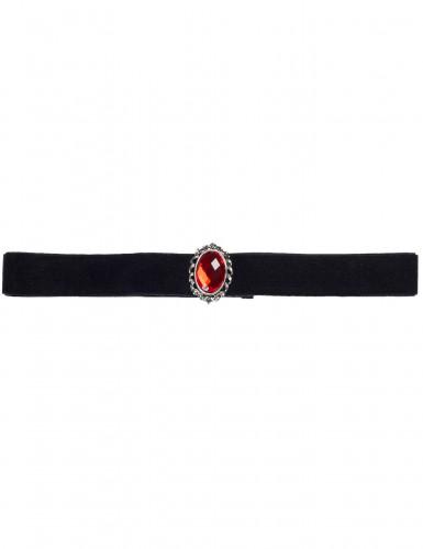 Amulet med røde sten Halloween
