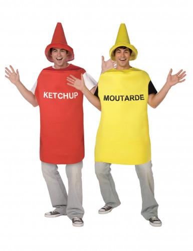 Parkostume ketchup og sennep