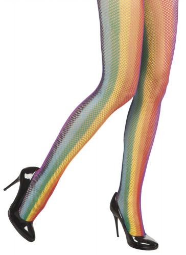 Regnbuefarvede strømpebukser voksen