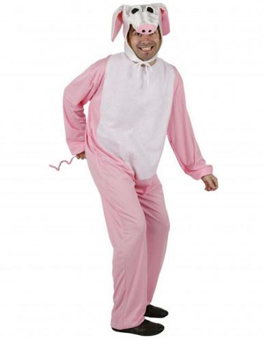 Udklædningsdragt gris voksen