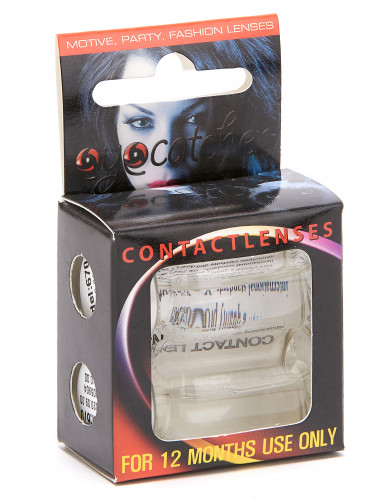 Kontaktlinser fantasy korsmønster hvidt voksen-1