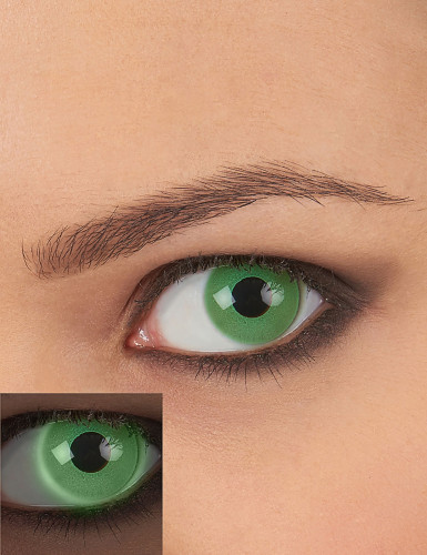 Kontaktlinser UV grøn voksen