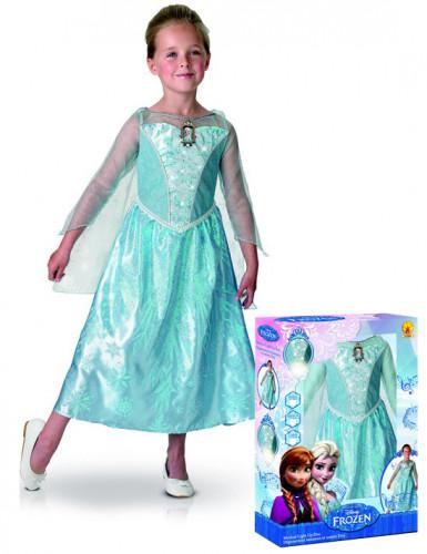 Kostume deluxe med lyd og lys Elsa Frost™ piger