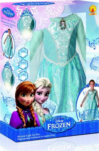 Kostume deluxe med lyd og lys Elsa Frost™ piger-1