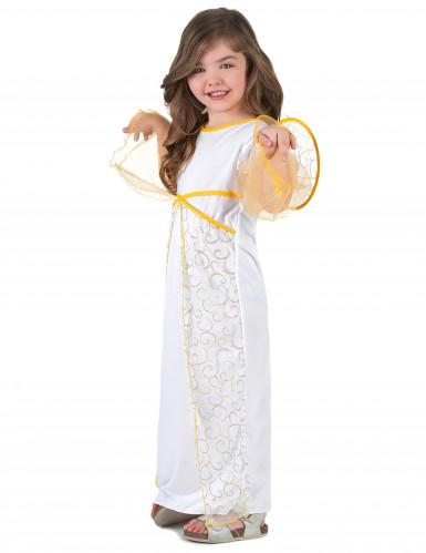 Hvidt og guld englekostume til piger -1