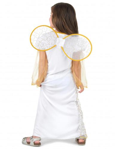 Hvidt og guld englekostume til piger -2