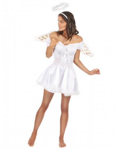 Drømmeengel - Englekostume med vinger til kvinder