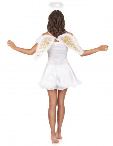 Drømmeengel - Englekostume med vinger til kvinder-2