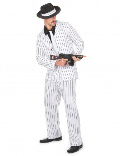 Hvidt gangsterkostume til mænd -1