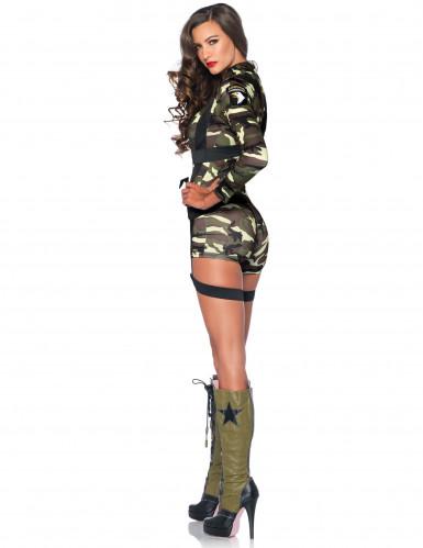 Kort militærkostume til kvinder-1