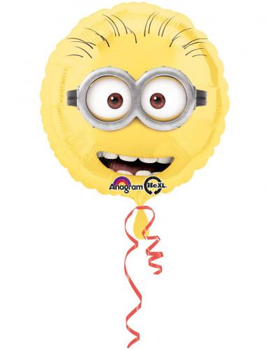 Rund aluminiumsballon med minions ansigt - Minions™ 43 cm.