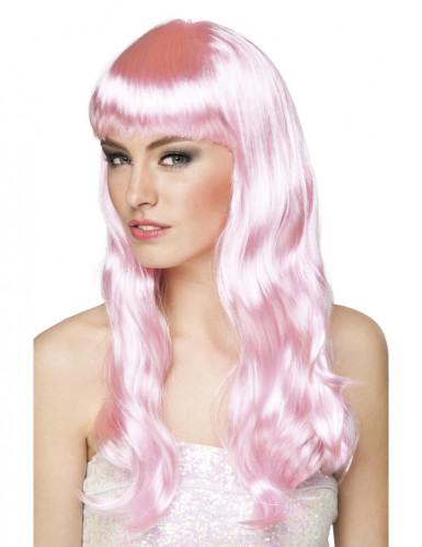 Paryk lang bleg lyserød kvinde