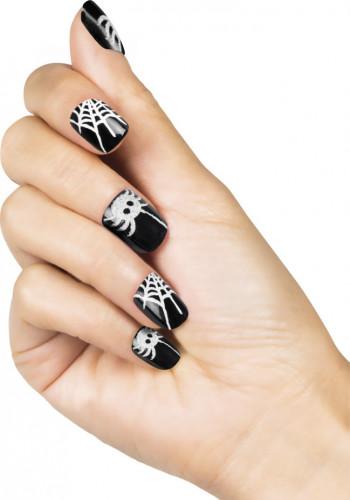Selvklæbende edderkop kunstige negle