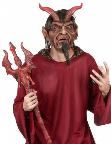 Maske luksus latex djævel voksen Halloween