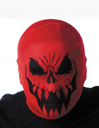 Rød monsterhætte Halloween voksen