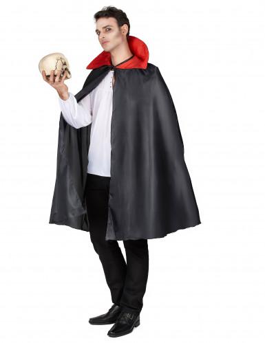 Sort kappe med rød krave Halloween-1