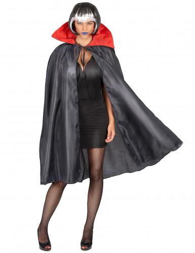 Sort kappe med rød krave Halloween-3