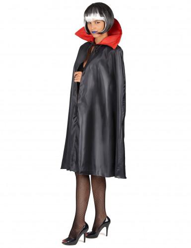 Sort kappe med rød krave Halloween-4