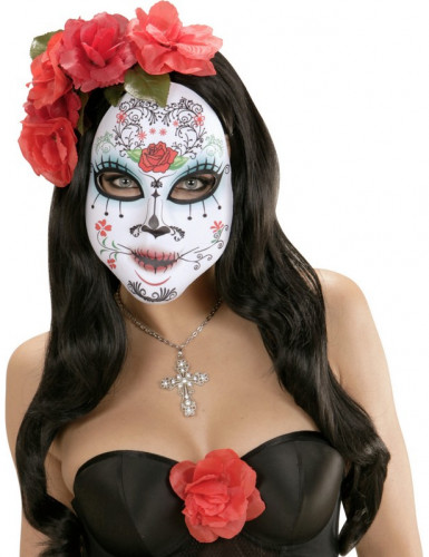 Maske med lille rose voksen