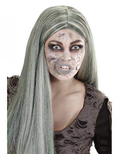 Flaske med zombiehud-sminke voksen Halloween
