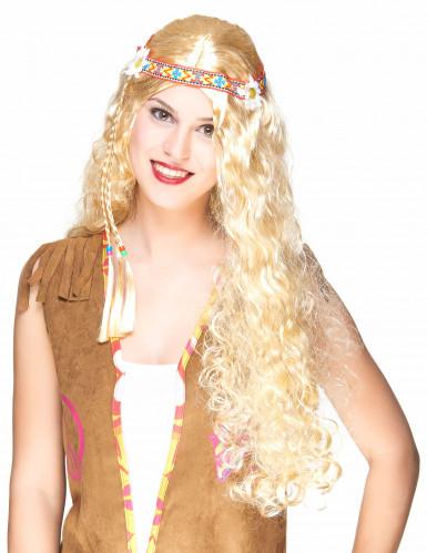 Paryk hippie blond lang til kvinder