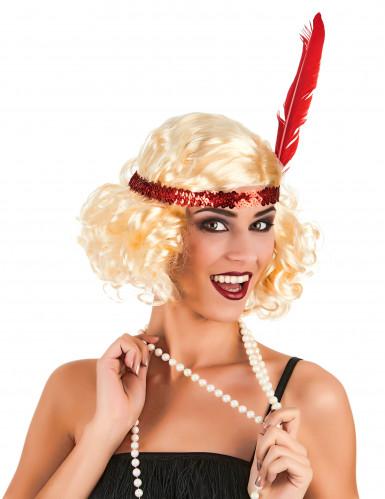 Blond Charleston paryk Kvinde