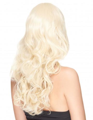 Luksuriøs Blond Bølget Paryk med Pandehår Kvinde - 221 g-1